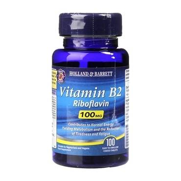 Holland & Barrett Vitamin B2 100 Tablets 100mg - Natural Ethos