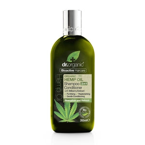 Dr Organic Hemp Oil 2 in 1 Shampoo & Conditioner 265ml - Natural Ethos