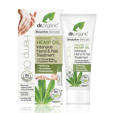 Dr Organic Hemp Oil Hand & Nail Treatment 100ml - Natural Ethos