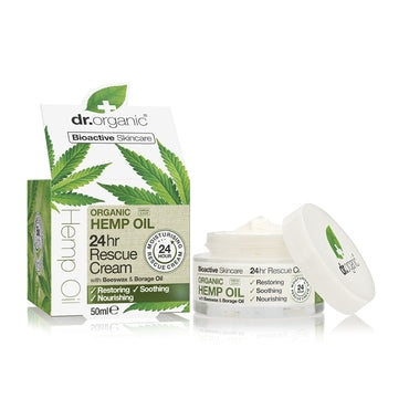 Dr Organic Hemp Oil 24hr Rescue Cream 50ml - Natural Ethos
