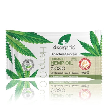 Dr Organic Hemp Oil Soap 100g - Natural Ethos