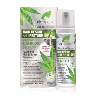 Dr Organic Hemp Oil Rescue & Restore Hair & Scalp Treatment 150ml - Natural Ethos