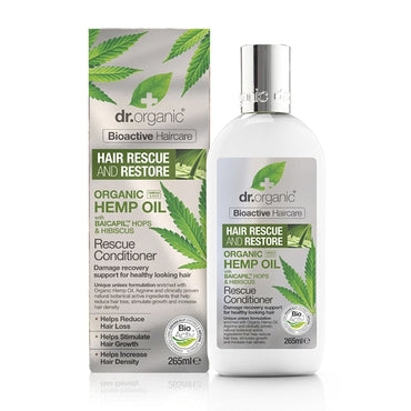 Dr Organic Hemp Oil Rescue & Restore Conditioner 265ml - Natural Ethos
