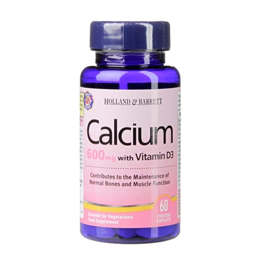 Holland & Barrett Calcium plus Vitamin D 60 Coated Caplets - Natural Ethos