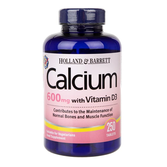 Holland & Barrett Calcium plus Vitamin D 250 Coated Caplets - Natural Ethos