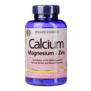 Holland & Barrett Calcium Magnesium & Zinc 250 Caplets - Natural Ethos