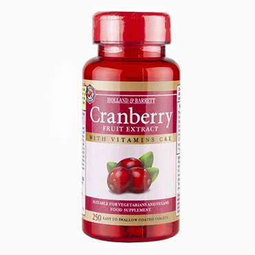Holland & Barrett Cranberry Concentrate 250 Tablets - Natural Ethos
