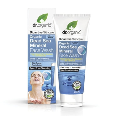 Dr Organic Dead Sea Mineral Face Wash 200ml - Natural Ethos
