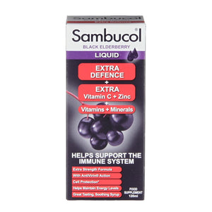 Sambucol Extra Defence Black Elderberry Liquid 120ml - Natural Ethos