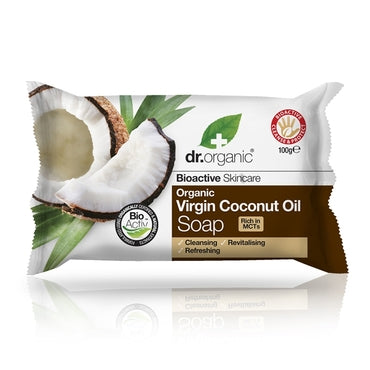Dr Organic Virgin Coconut Oil Soap 100g - Natural Ethos