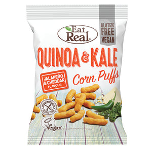 Eat Real Quinoa Kale Puffs Jalapeno Cheese 113g - Natural Ethos