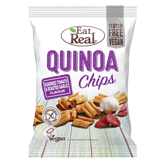 Eat Real Quinoa Tomato & Garlic Chips 80g - Natural Ethos