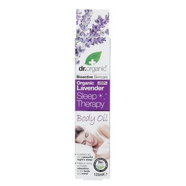 Dr Organic Lavender Sleep Therapy Body Oil 125ml - Natural Ethos