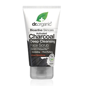 Dr Organic Charcoal Face Scrub 125ml - Natural Ethos
