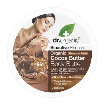 Dr Organic Cocoa Butter Body Butter 200ml - Natural Ethos