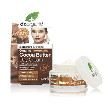 Dr Organic Cocoa Butter Day Cream 50ml - Natural Ethos