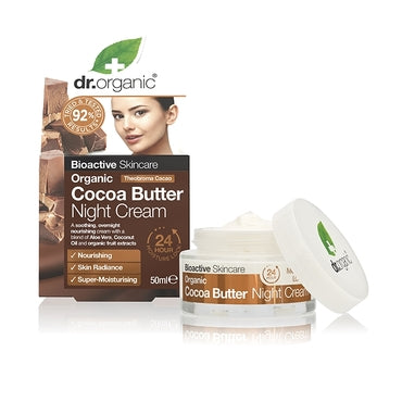 Dr Organic Cocoa Butter Night Cream 50ml - Natural Ethos
