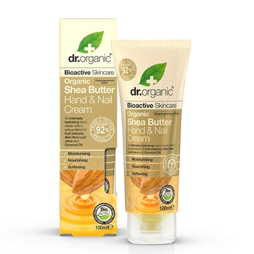 Dr Organic Shea Butter Hand & Nail Cream 100ml - Natural Ethos