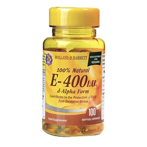 Holland & Barrett Vitamin E 400iu 100 Softgel Capsules - Natural Ethos