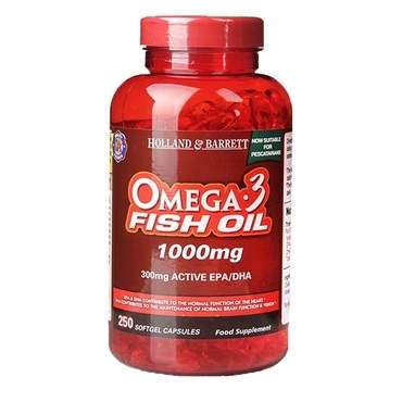 Holland & Barrett Omega 3 Fish Oil 1000mg 250 Softgel Capsules - Natural Ethos