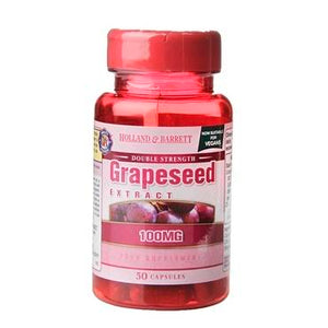 Holland & Barrett Double Strength Grapeseed Extract 100mg 50 Capsules - Natural Ethos