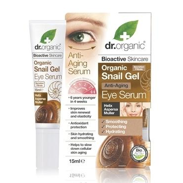 Dr Organic Snail Gel Eye Serum 15ml - Natural Ethos