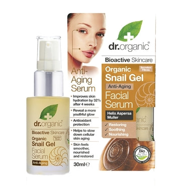 Dr Organic Snail Gel Face Serum Anti-Aging 30ml - Natural Ethos