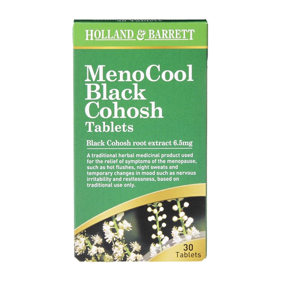 Holland & Barrett MenoCool Black Cohosh 30 Tablets - Natural Ethos