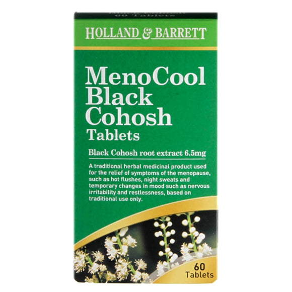 Holland & Barrett MenoCool Black Cohosh 60 Tablets - Natural Ethos