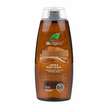 Dr Organic Ginseng Hair & Body Wash 250ml - Natural Ethos