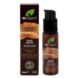 Dr Organic Ginseng Face Serum 50ml - Natural Ethos