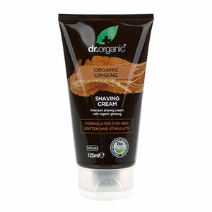 Dr Organic Ginseng Shaving Cream 125ml - Natural Ethos