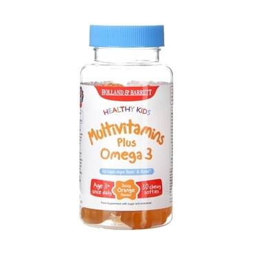 Holland & Barrett Healthy Kids Multivitamins plus Omega 3 30 Softies - Natural Ethos