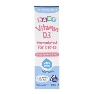 Holland & Barrett Baby Vitamin D3 Drops 30ml - Natural Ethos