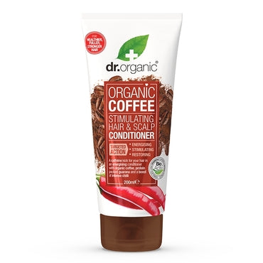 Dr Organic Coffee Hair Stimulating Conditioner 200ml - Natural Ethos