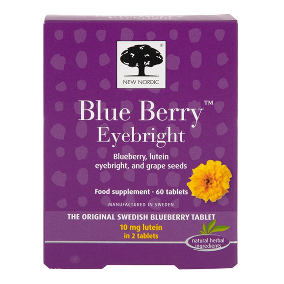 New Nordic Blue Berry Eyebright 60 tablets - Natural Ethos