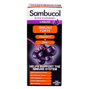 Sambucol Immuno Forte Black Elderberry Formula 120ml - Natural Ethos