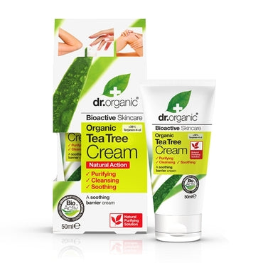 Dr Organic Tea Tree Antiseptic Cream 50ml - Natural Ethos