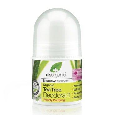 Dr Organic Tea Tree Deodorant 50ml - Natural Ethos