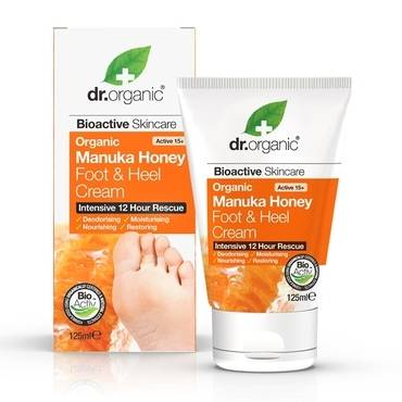 Dr Organic Manuka Honey Foot & Heel Cream 125ml - Natural Ethos