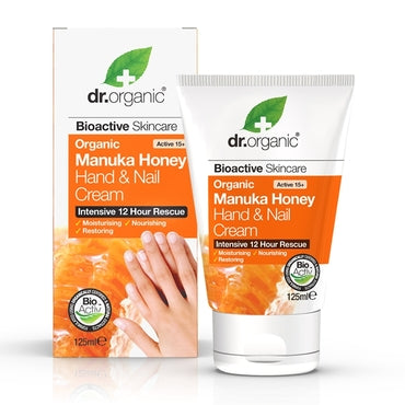 Dr Organic Manuka Honey Hand & Nail Cream 125ml - Natural Ethos