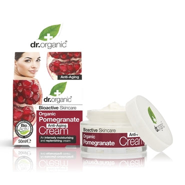 Dr Organic Pomegranate Anti-Aging Cream 50ml - Natural Ethos