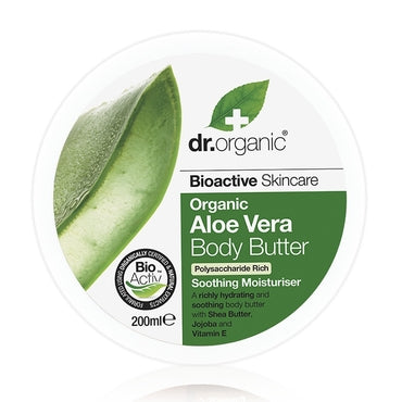 Dr Organic Aloe Vera Body Butter 200ml - Natural Ethos