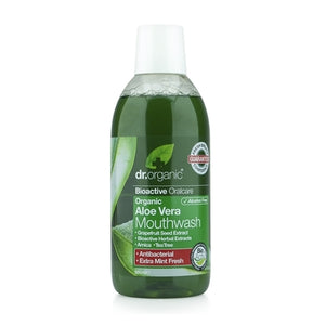 Dr Organic Aloe Vera Mouthwash 500ml - Natural Ethos