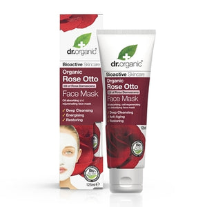 Dr Organic Rose Otto Face Mask 125ml - Natural Ethos