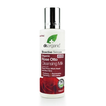 Dr Organic Rose Otto Cleansing Milk 150ml - Natural Ethos