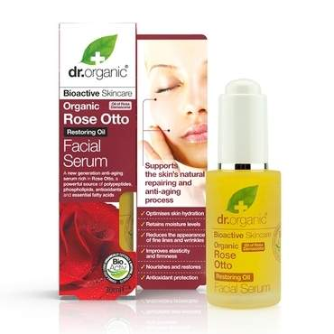 Dr Organic Rose Otto Facial Serum 30ml - Natural Ethos