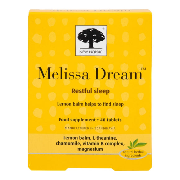 New Nordic Melissa Dream 40 tablets - Natural Ethos