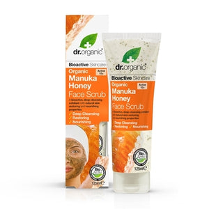 Dr Organic Manuka Honey Face Scrub 125ml - Natural Ethos