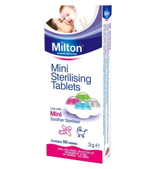 Milton Mini Sterilising Tablets Pack of 50 - Natural Ethos